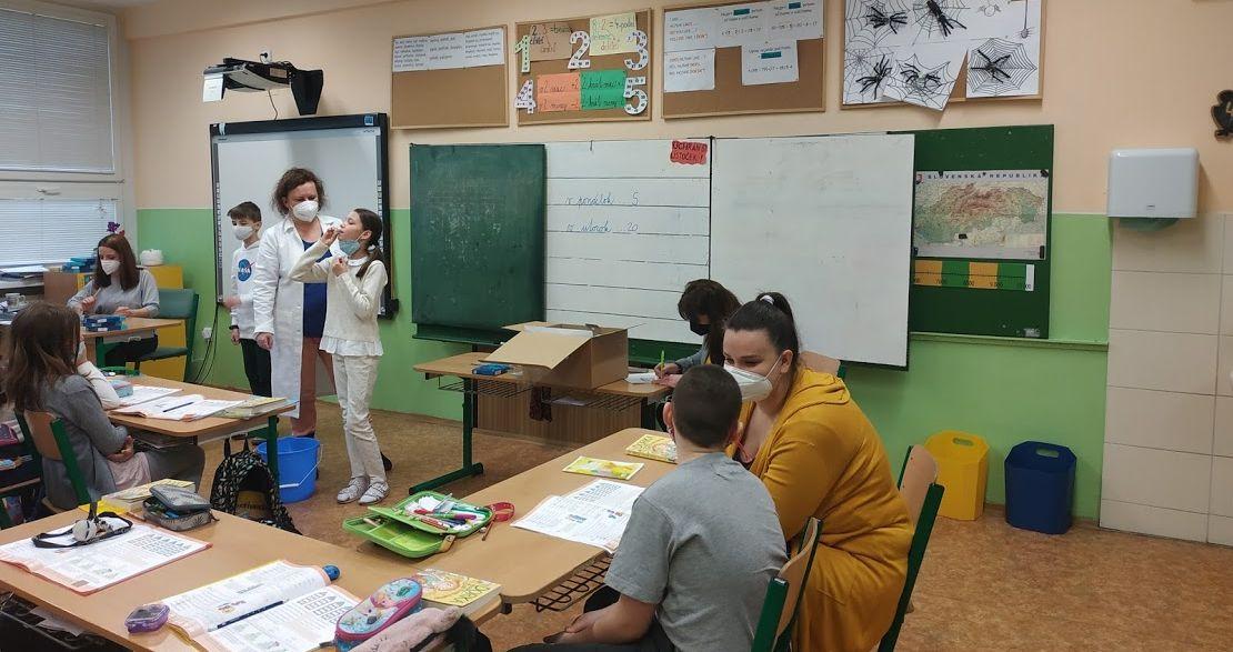 testovanie žiakov pcr testy partizanske