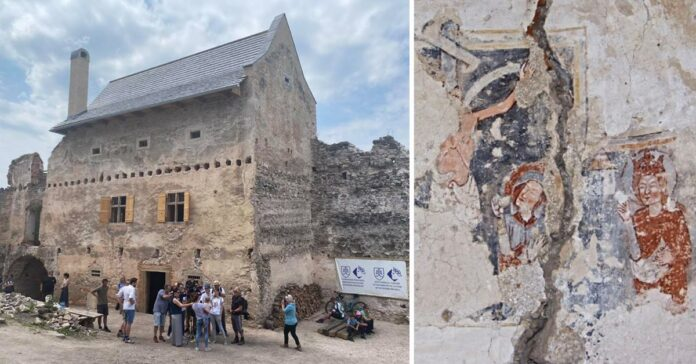Uhrovský hrad fresky